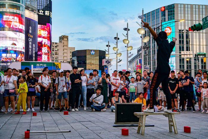 Ximending street performance