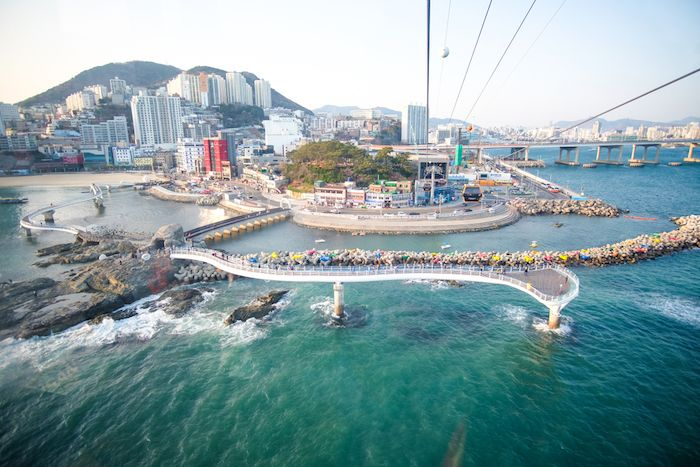 Songdo Beach's Cable Car