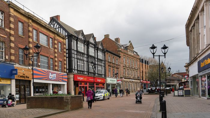 Rotherham town centre shops