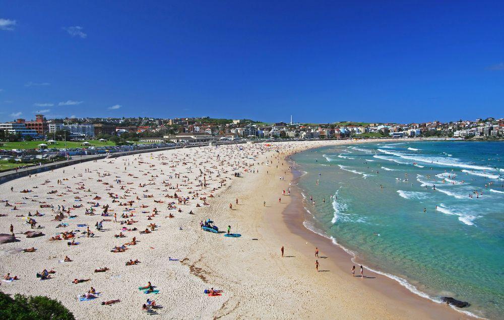 Sunbathing on Bondi Beach