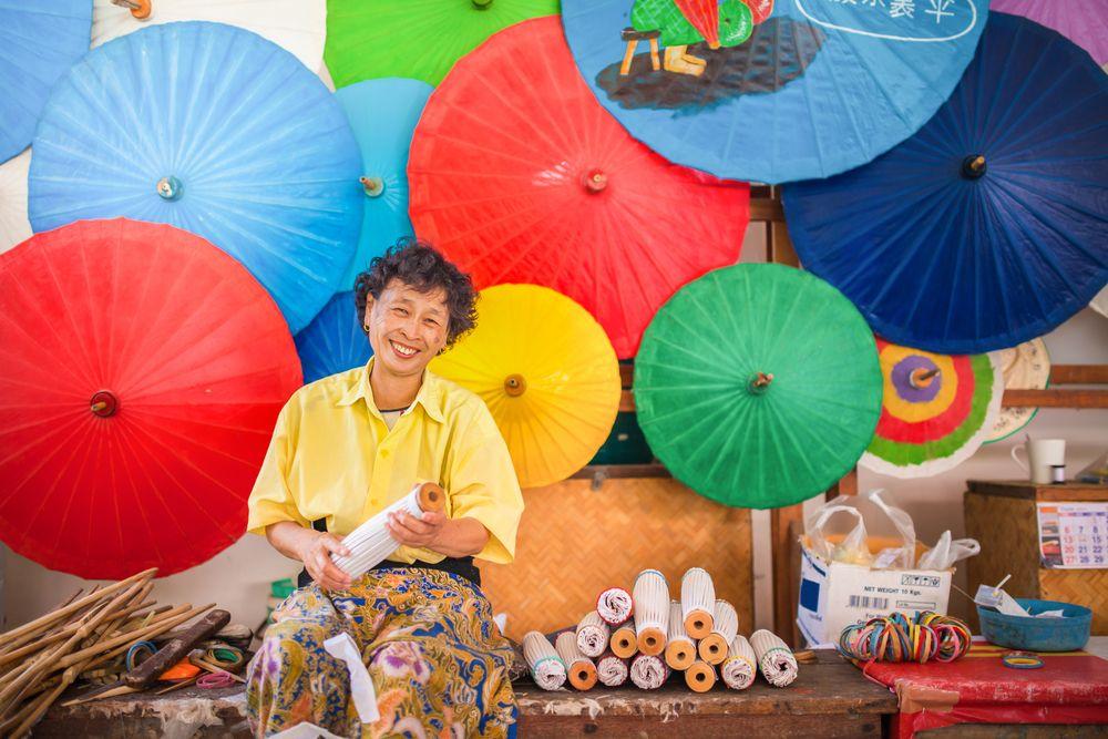 umbrella factory Chiang Mai