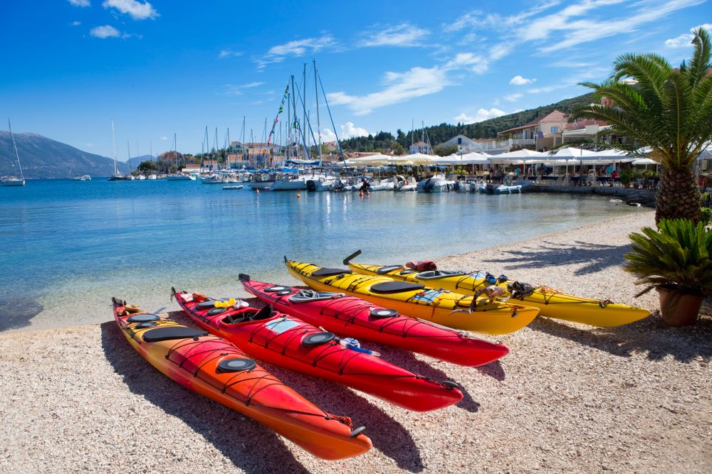Kayaking Kefalonia