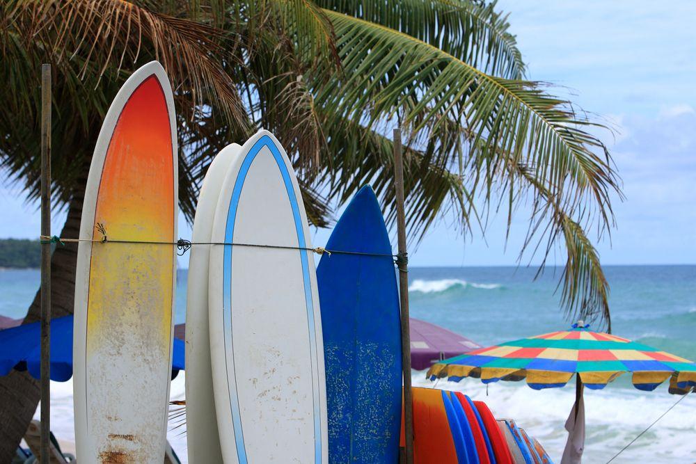 Surfing Karon Beach