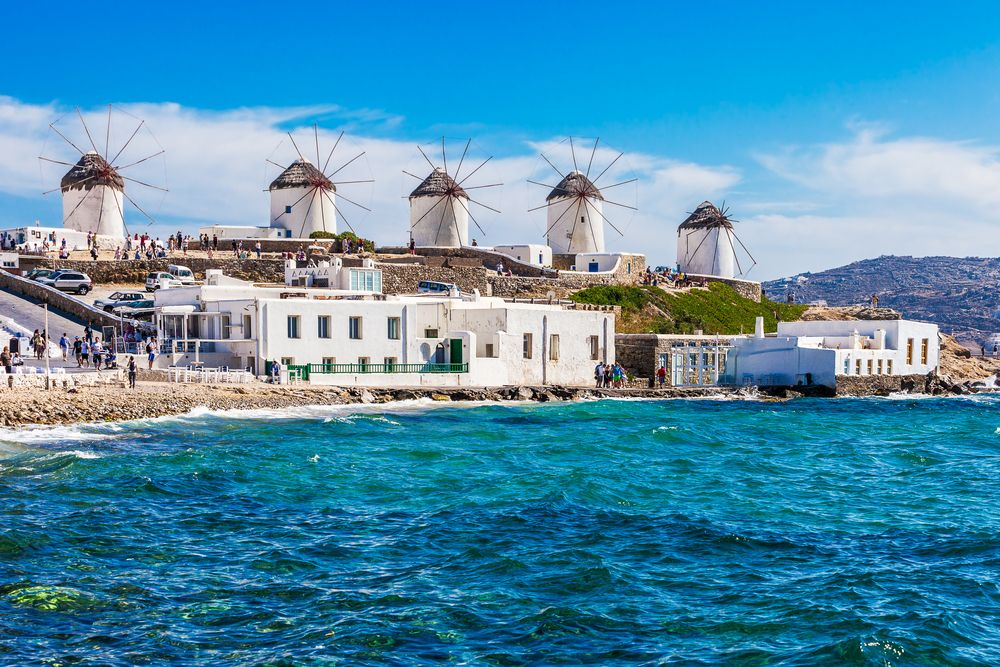 16th Century Windmills Mykonos Greece