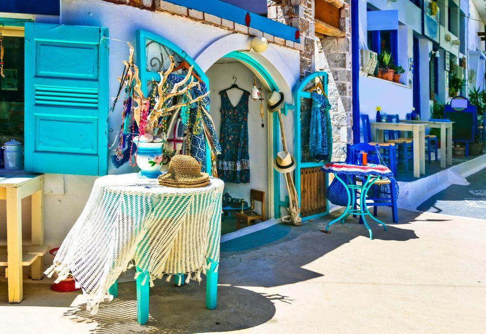 Shopping street in Mykonos