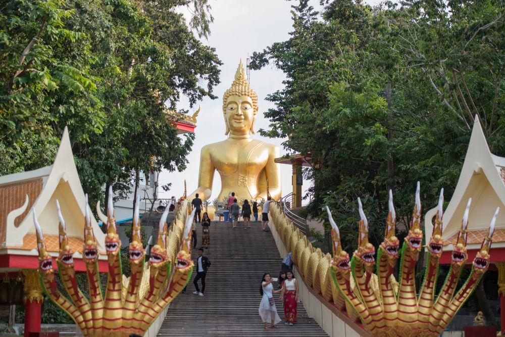 Buddha in Wat Phar Khao Yai