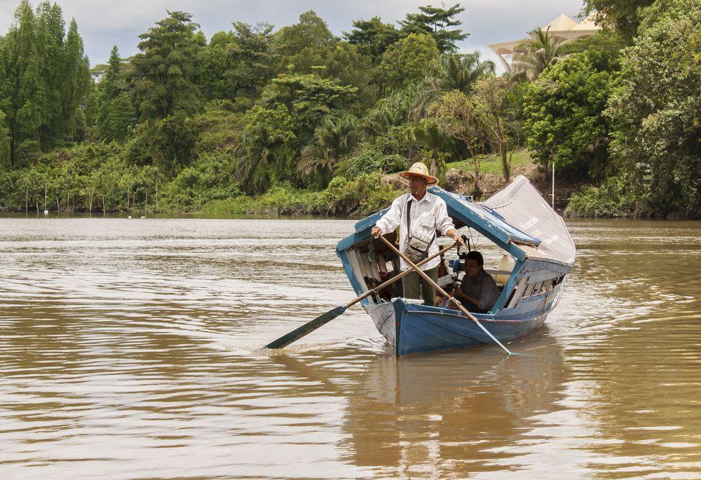 Boating in Sarawak river