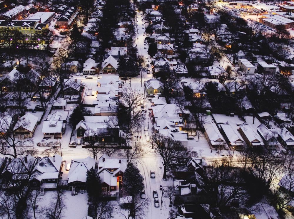 CabbageTown during Snow