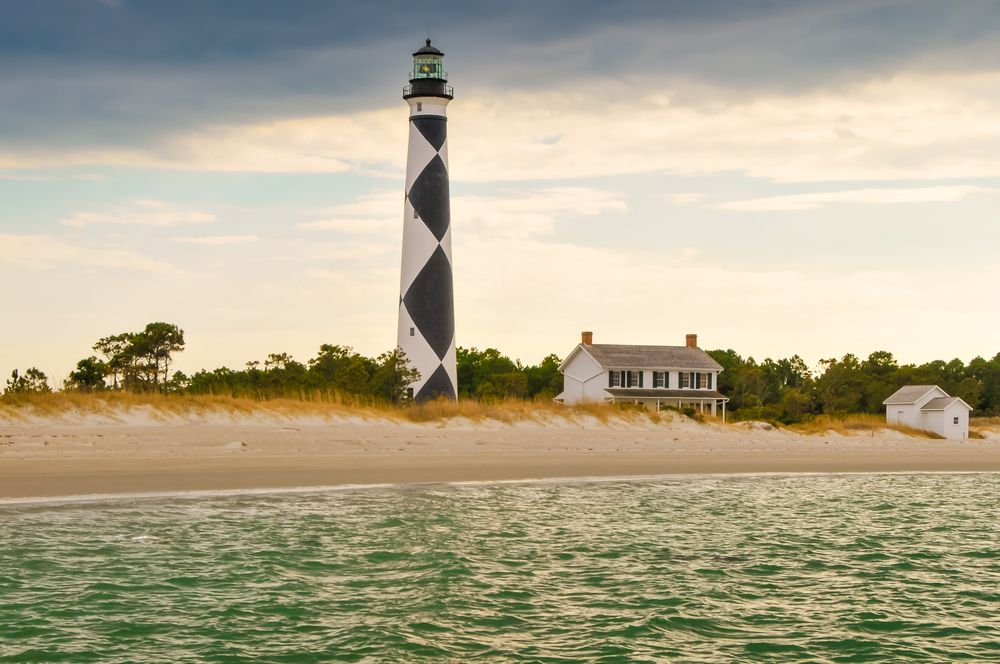 Lighthouse in Cape Lookout