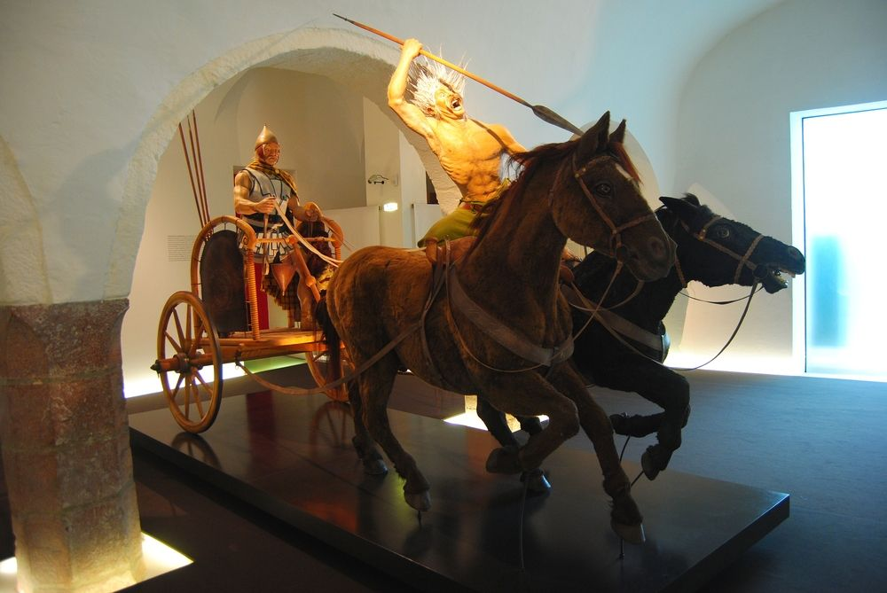 Celtic chariot at Celtic museum