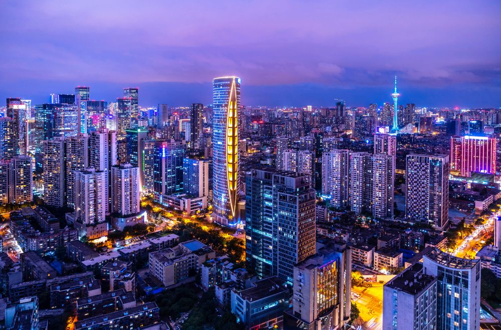 Chengdu skyline