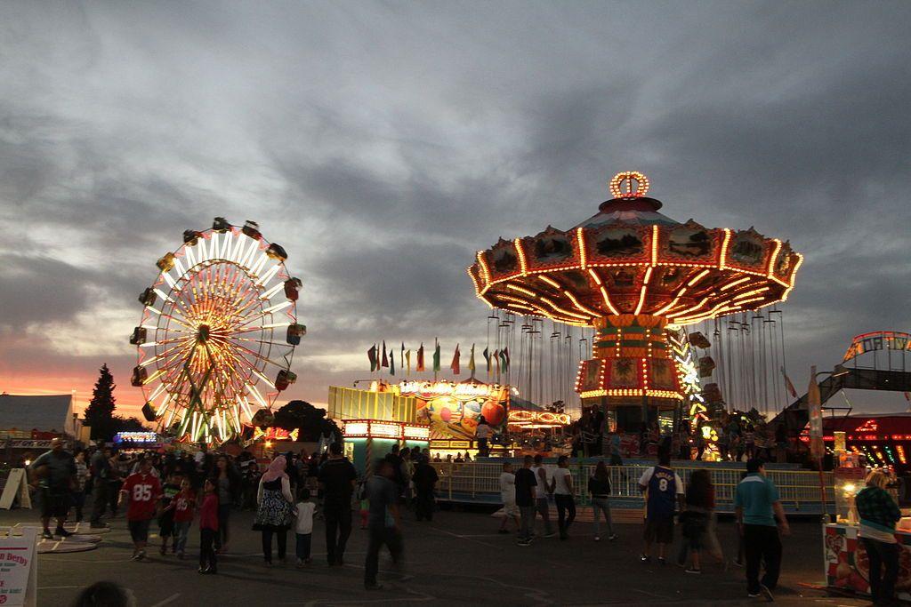 Fresno Fair at Night