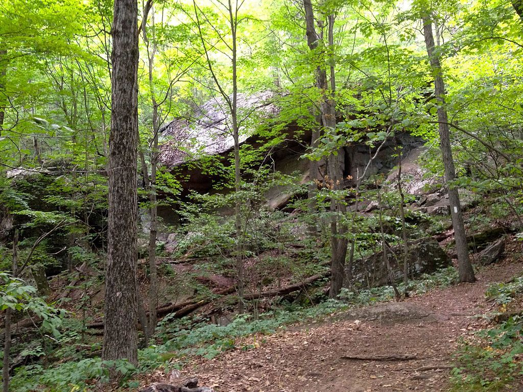 Horse cave in Mount Norwottuck