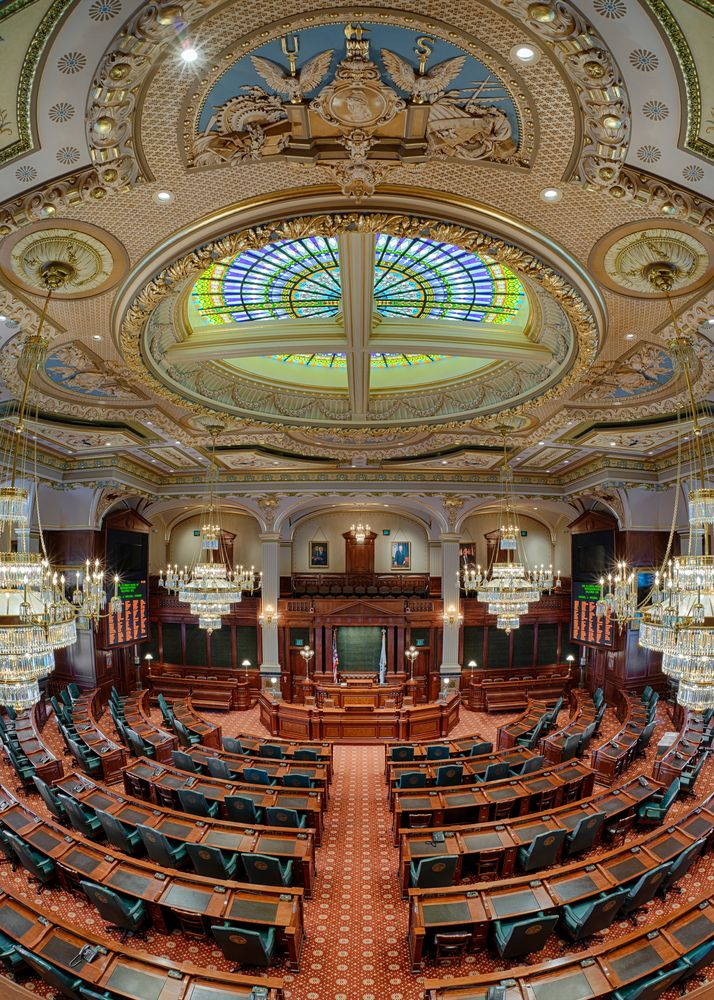 Interior of State capitol in Springfield