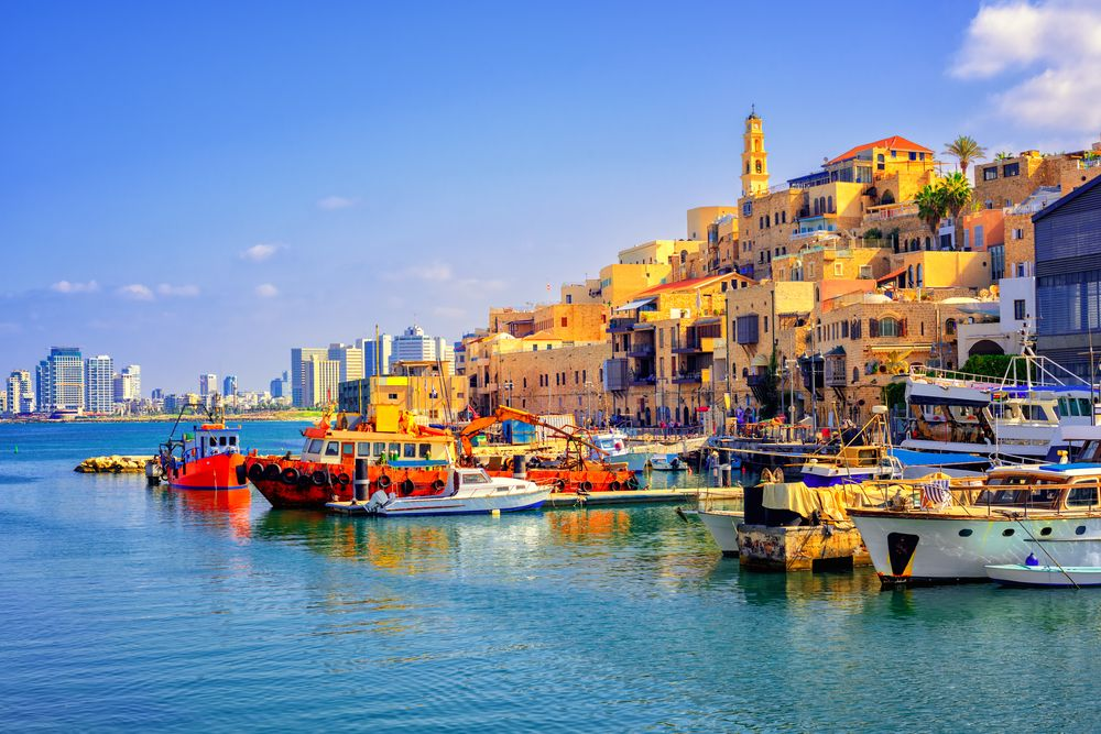 Old town port Jaffa in Old North, Tel Aviv