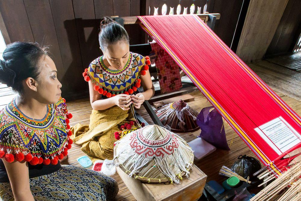 Weaving at Sarawak Cultural Village