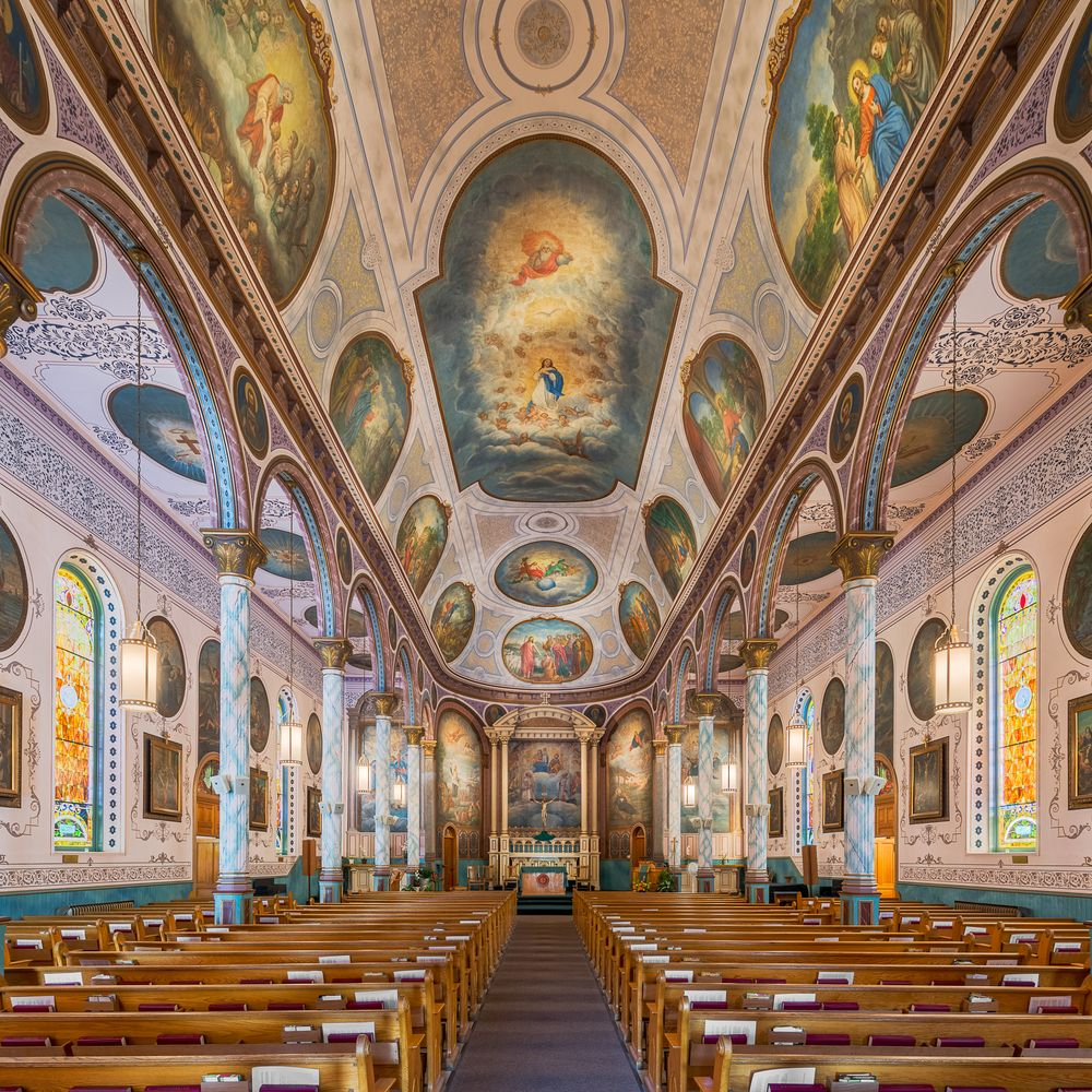 Interior of St. Francis Xavier Church in Missoula