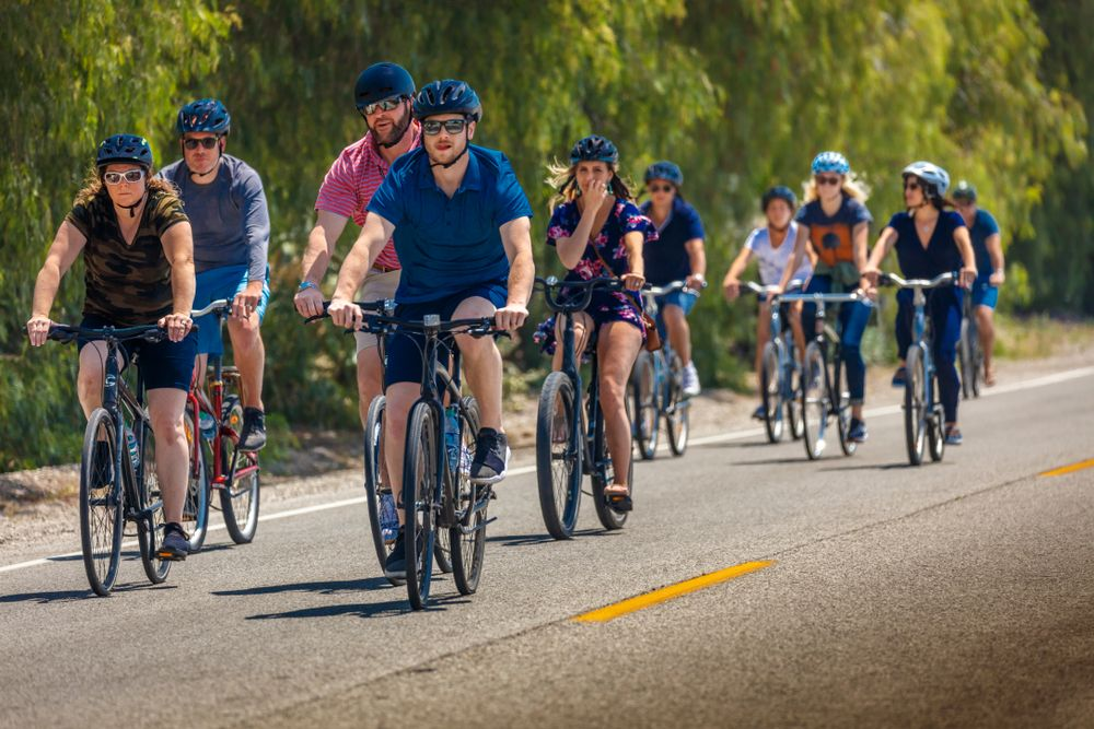 People riding bike in Ojai