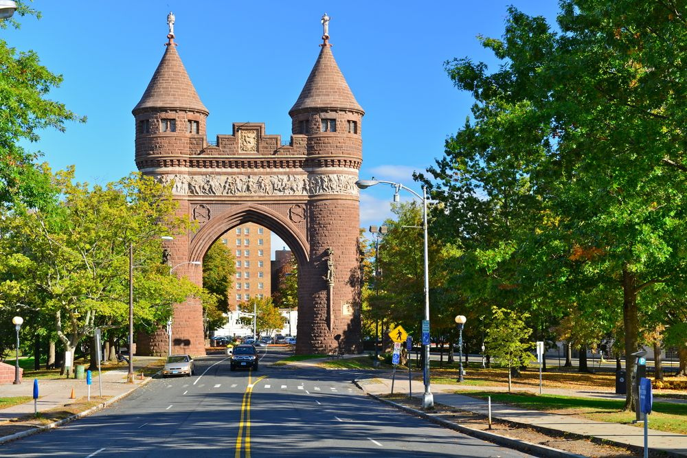 Soldiers and Sailors memorial arch in Bushnell Park