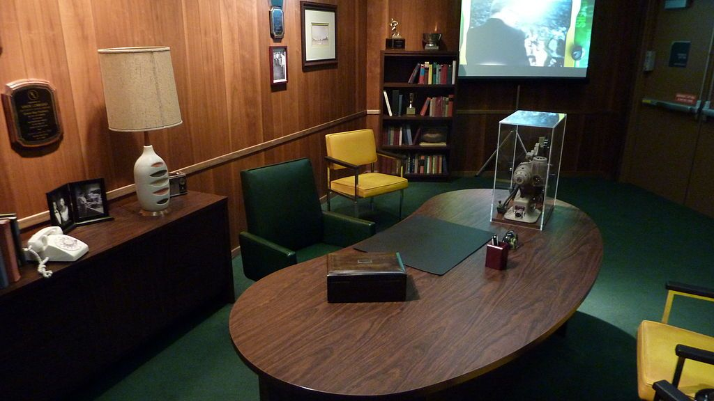 Replica of Vince Lombardi's Office in Green Bay Packers Hall of Fame