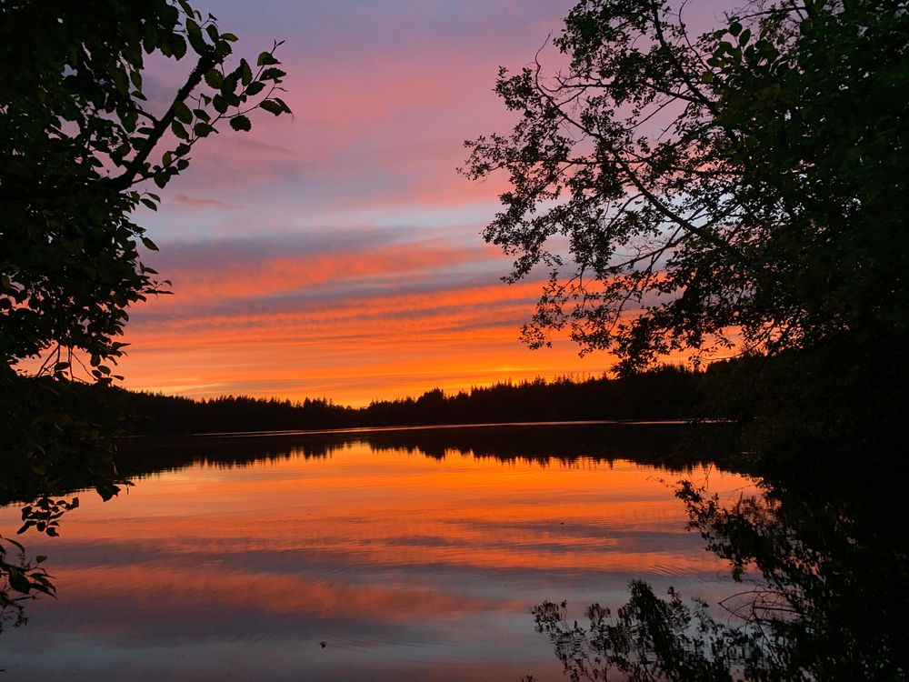 Sunset at Lake Padden Park