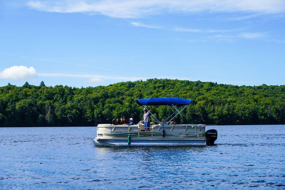 Boating in Lake Placid