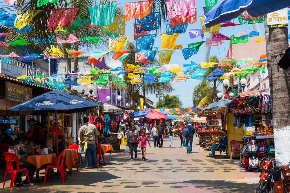 Colorful street in Plaza Santa Cecilia