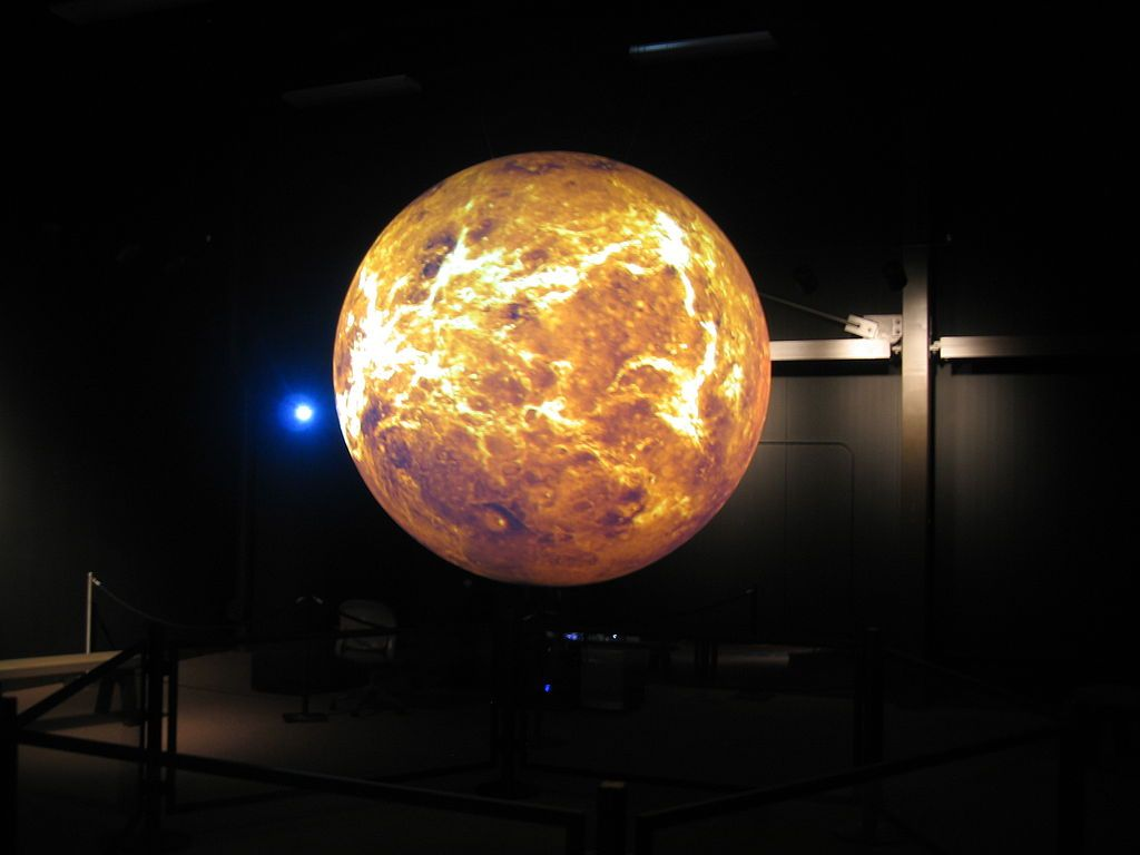 Science on a sphere in Wallops Flight Facility Visitor Center