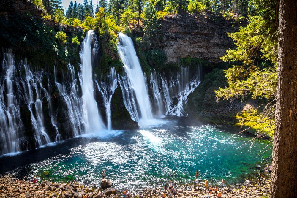 Burney Falls in Shasta-Trinity National Forest