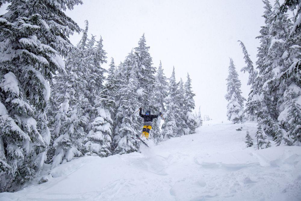 Skiing at silver mountain, Idaho