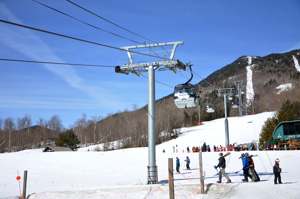 Skiing area at Whiteface Mountain