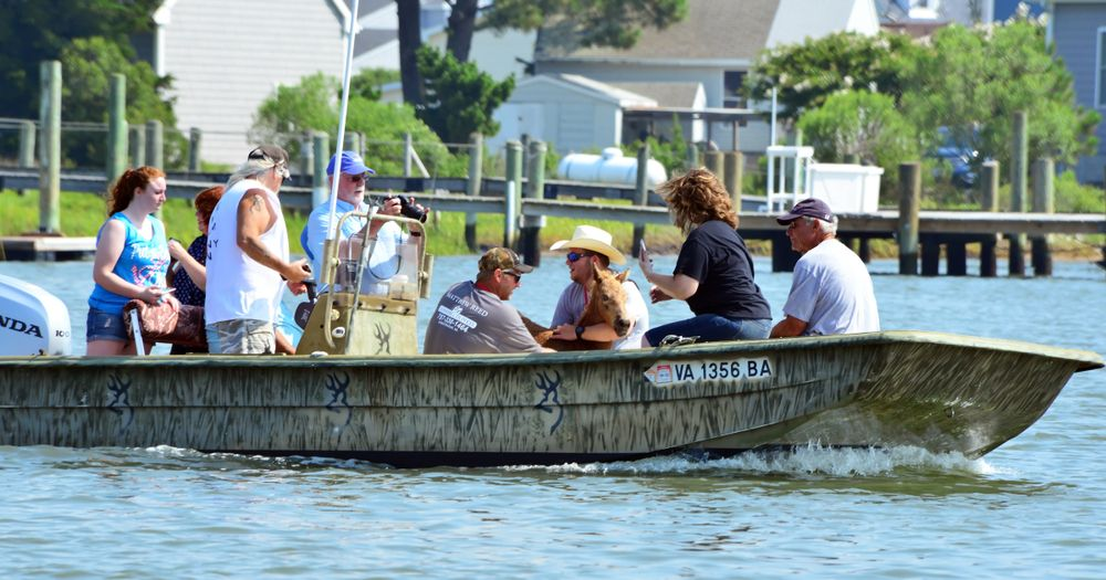 Boat ride in Chincoteague
