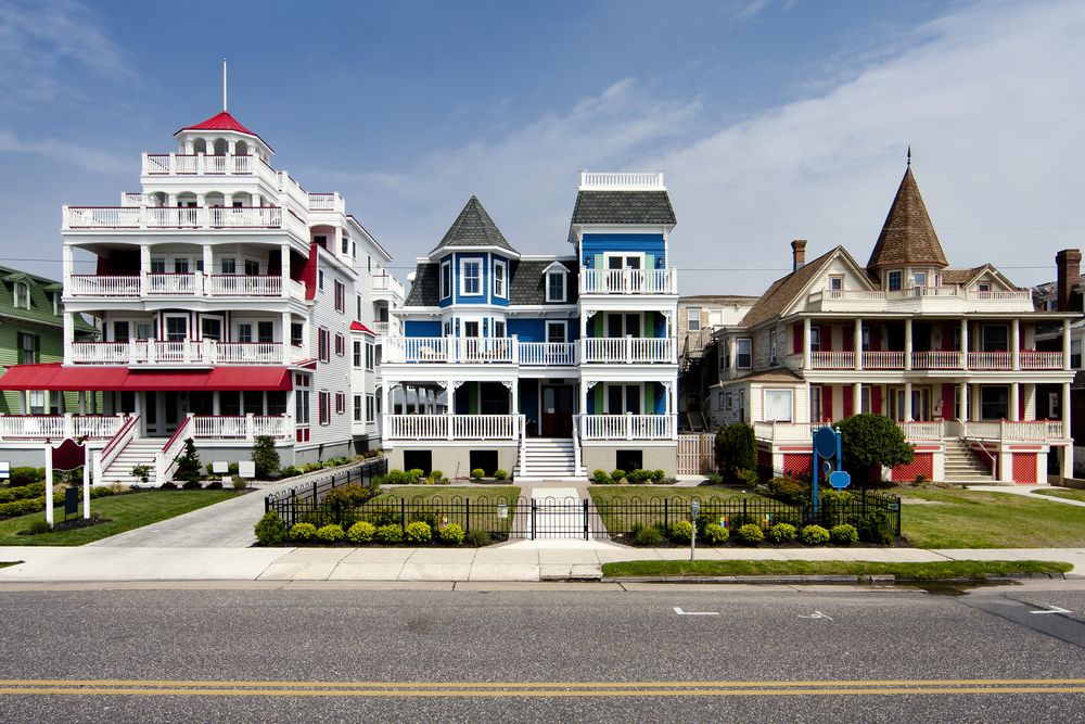 Victorian style building in Cape May