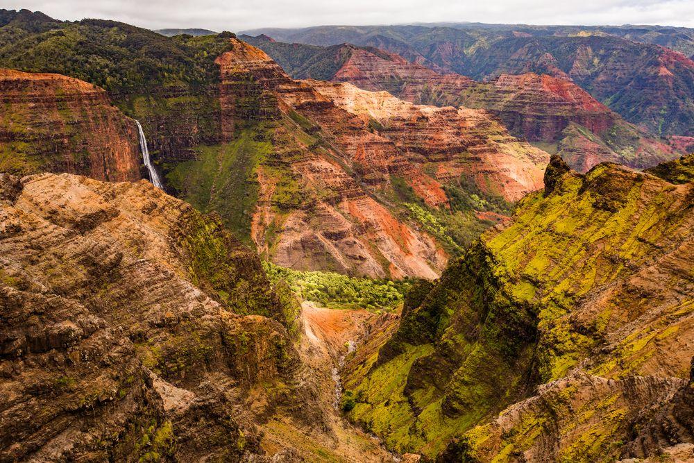 Waimea Canyon in West coast of Kauai