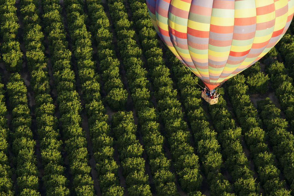 Hot air balloon ride in Temecula