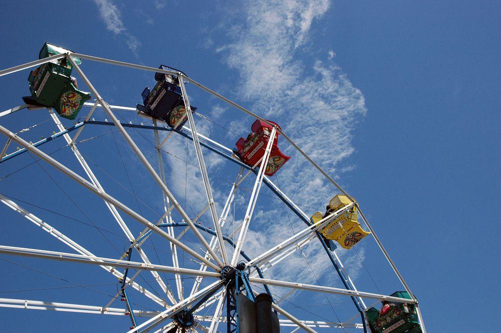Ferris Wheel at Bay Beach Park Amusement Park
