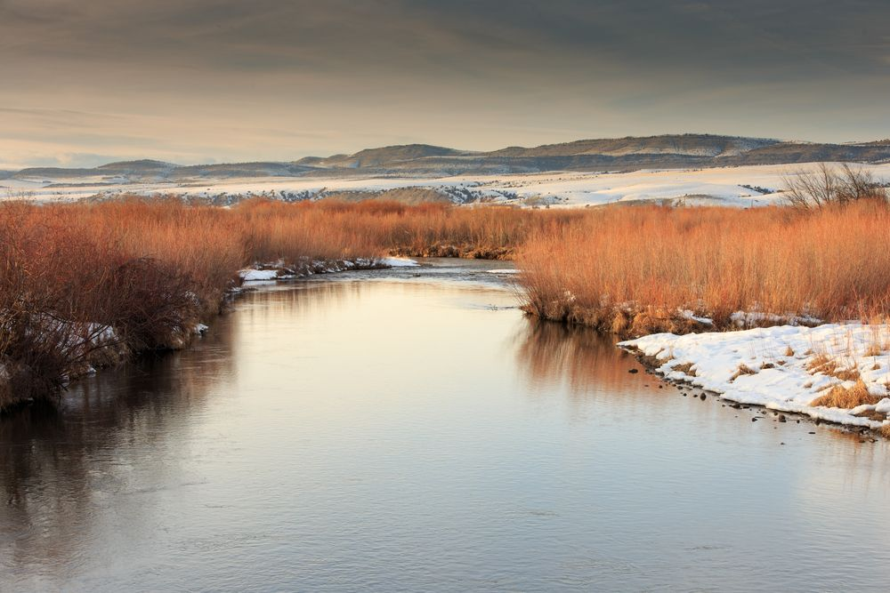 Gallatin River in winter