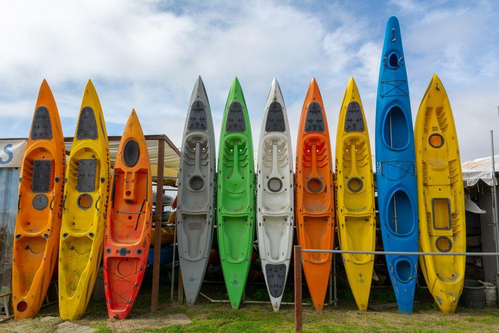 Kayaks in Half Moon Bay
