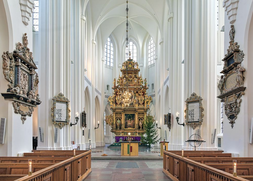 Interior of Sankt Petri Church