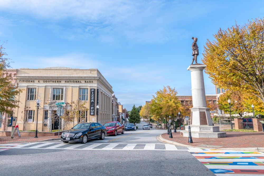 Daniel Morgan monument at Spartanburg Historic District