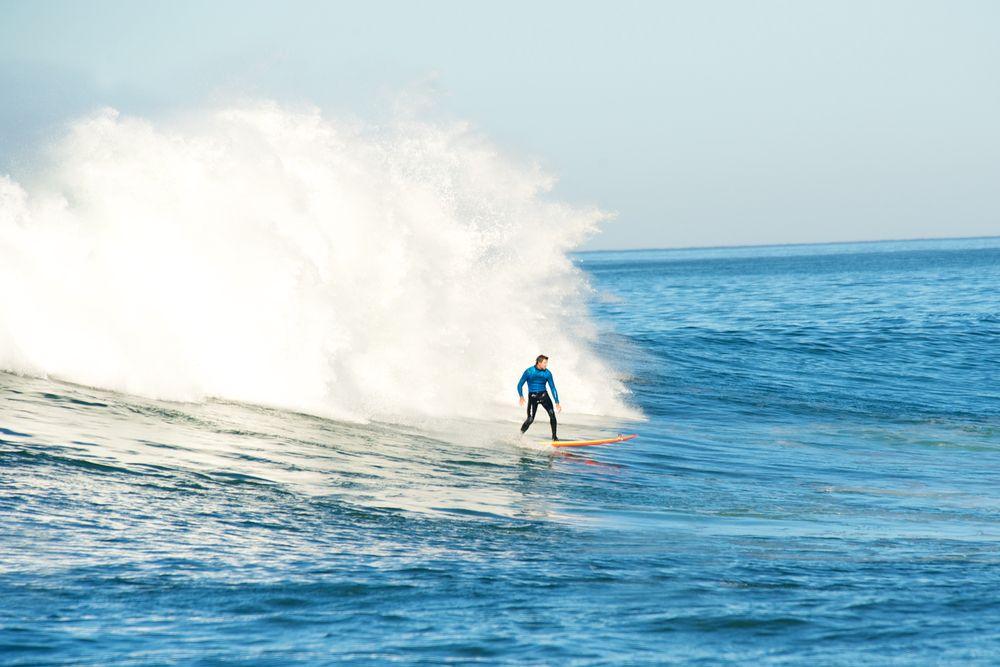 Surfing at Half Moon Bay