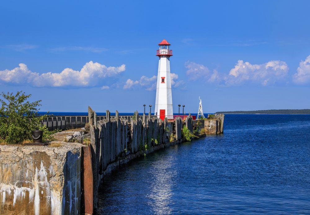 The Wawatam lighthouse