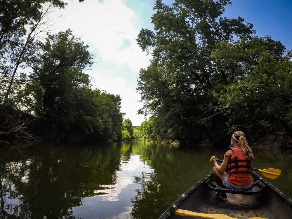 Canoeing in Hocking Hills