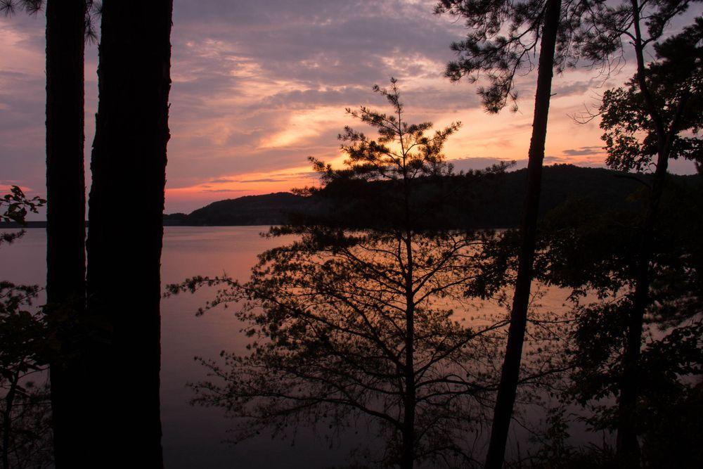 Sunset at Carter's Lake