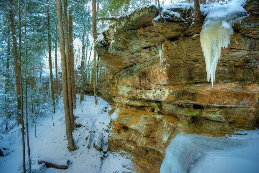 Winter in Hocking Hills State Park
