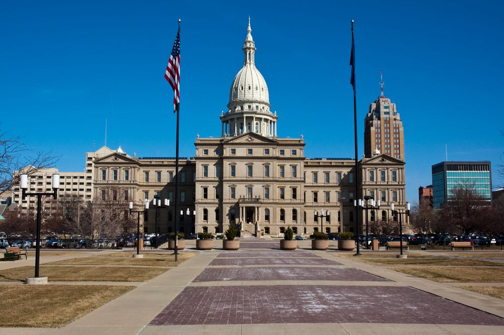 State Capitol Building in Lansing