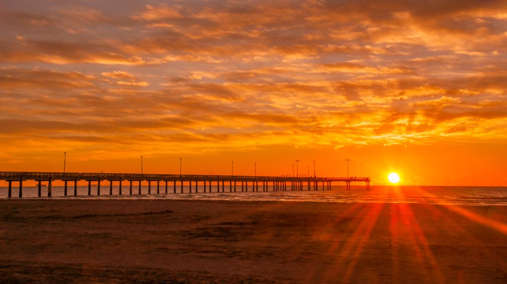Sunrise in Port Aransas