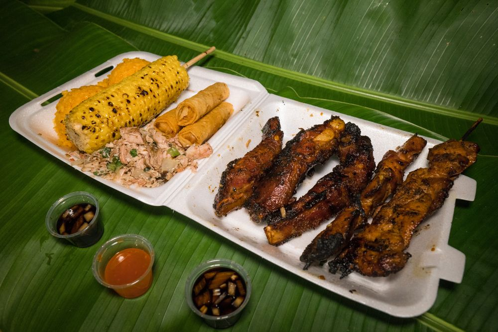 Barbecued meats in Chamorro village