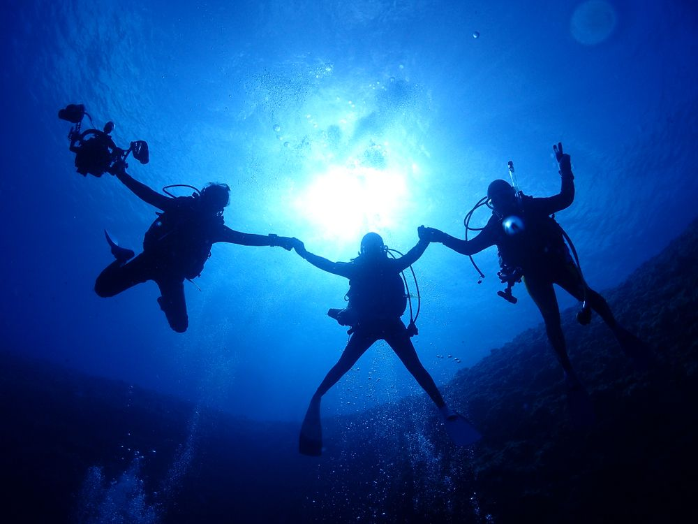 Divers in Okinawa