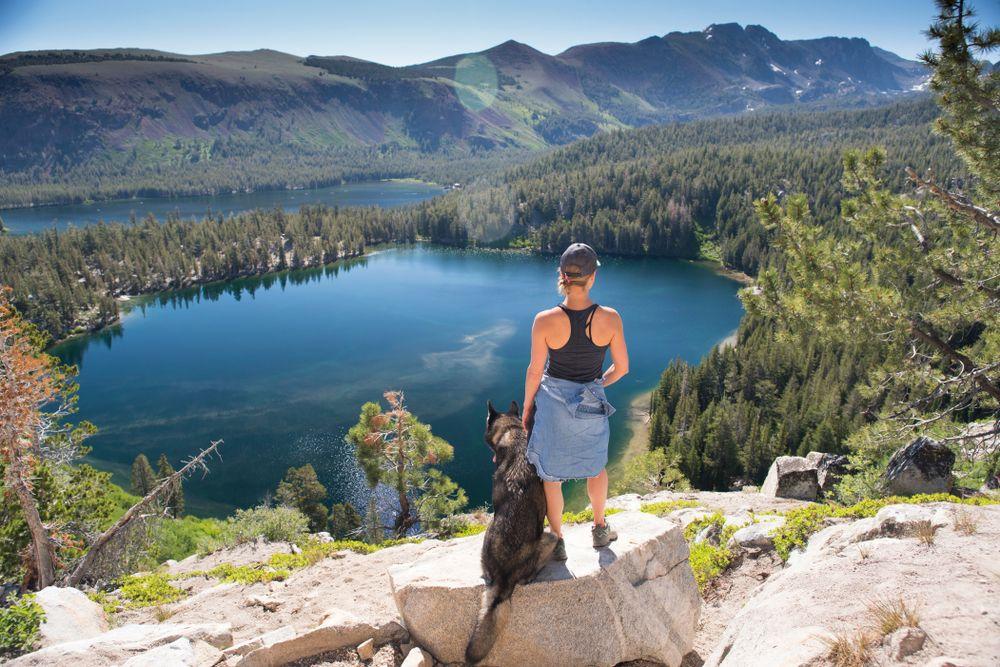 Hiking at Mammoth lake